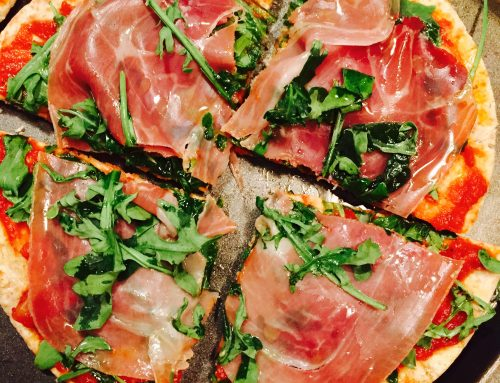 Tasty Thin Prosciutto Arugula Pizza