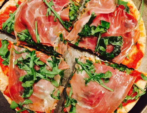 Tasty Thin Prosciutto Arugula Pizza